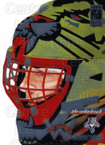 1996-97 Donruss Elite Painted Warriors #4 John Vanbiesbrouck<br/>3 In Stock - $10.00 each - <a href=https://centericecollectibles.foxycart.com/cart?name=1996-97%20Donruss%20Elite%20Painted%20Warriors%20%234%20John%20Vanbiesbro...&quantity_max=3&price=$10.00&code=313276 class=foxycart> Buy it now! </a>