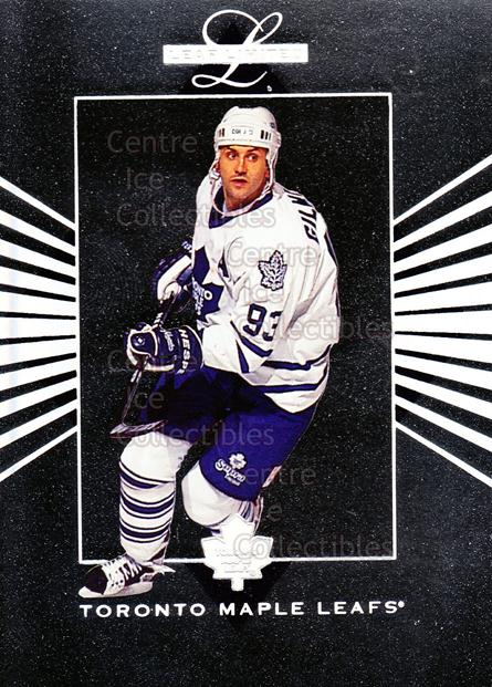 1994-95 Leaf Limited Inserts #23 Doug Gilmour<br/>18 In Stock - $2.00 each - <a href=https://centericecollectibles.foxycart.com/cart?name=1994-95%20Leaf%20Limited%20Inserts%20%2323%20Doug%20Gilmour...&quantity_max=18&price=$2.00&code=31328 class=foxycart> Buy it now! </a>