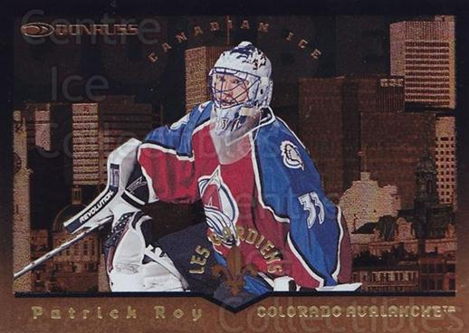 1996-97 Canadian Ice Les Gardiens #1 Patrick Roy<br/>1 In Stock - $25.00 each - <a href=https://centericecollectibles.foxycart.com/cart?name=1996-97%20Canadian%20Ice%20Les%20Gardiens%20%231%20Patrick%20Roy...&quantity_max=1&price=$25.00&code=313346 class=foxycart> Buy it now! </a>