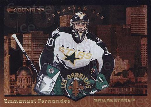 1996-97 Canadian Ice Les Gardiens #8 Manny Fernandez<br/>1 In Stock - $5.00 each - <a href=https://centericecollectibles.foxycart.com/cart?name=1996-97%20Canadian%20Ice%20Les%20Gardiens%20%238%20Manny%20Fernandez...&quantity_max=1&price=$5.00&code=313349 class=foxycart> Buy it now! </a>