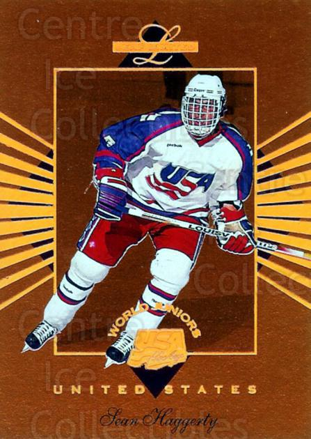 1994-95 Leaf Limited World Juniors USA #6 Sean Haggerty<br/>5 In Stock - $3.00 each - <a href=https://centericecollectibles.foxycart.com/cart?name=1994-95%20Leaf%20Limited%20World%20Juniors%20USA%20%236%20Sean%20Haggerty...&price=$3.00&code=31343 class=foxycart> Buy it now! </a>