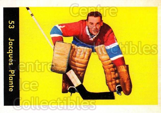 2001-02 Parkhurst Reprints #10 Jacques Plante<br/>1 In Stock - $5.00 each - <a href=https://centericecollectibles.foxycart.com/cart?name=2001-02%20Parkhurst%20Reprints%20%2310%20Jacques%20Plante...&quantity_max=1&price=$5.00&code=313445 class=foxycart> Buy it now! </a>