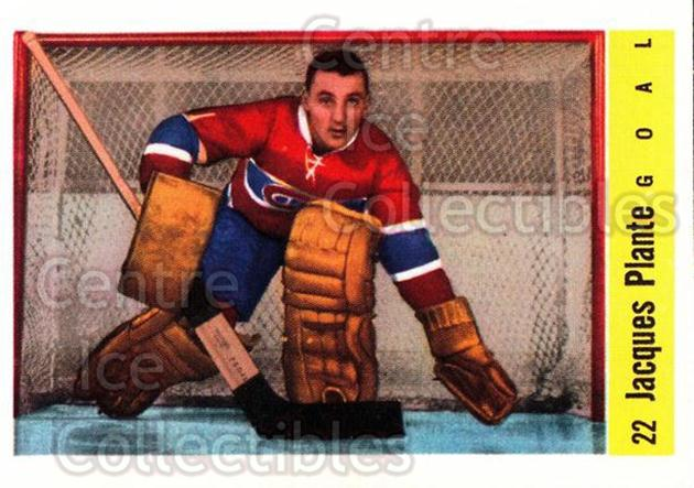 2001-02 Parkhurst Reprints #128 Jacques Plante<br/>1 In Stock - $3.00 each - <a href=https://centericecollectibles.foxycart.com/cart?name=2001-02%20Parkhurst%20Reprints%20%23128%20Jacques%20Plante...&quantity_max=1&price=$3.00&code=313563 class=foxycart> Buy it now! </a>