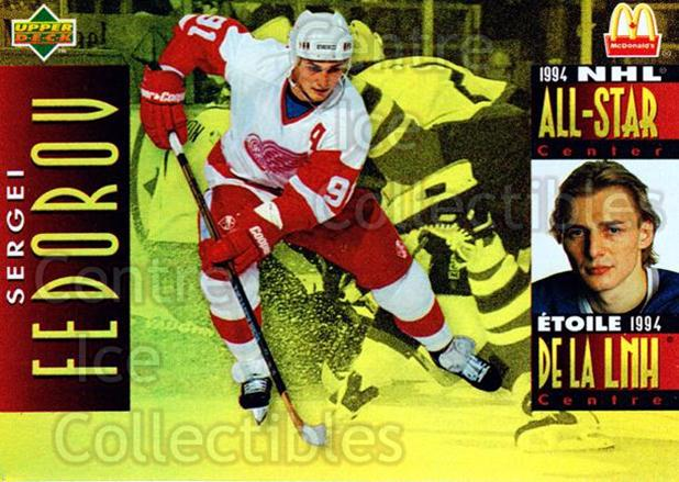 1994-95 McDonalds Upper Deck #12 Sergei Fedorov<br/>10 In Stock - $1.00 each - <a href=https://centericecollectibles.foxycart.com/cart?name=1994-95%20McDonalds%20Upper%20Deck%20%2312%20Sergei%20Fedorov...&quantity_max=10&price=$1.00&code=31492 class=foxycart> Buy it now! </a>