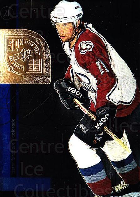 1998-99 SPx Top Prospects #13 Peter Forsberg<br/>2 In Stock - $2.00 each - <a href=https://centericecollectibles.foxycart.com/cart?name=1998-99%20SPx%20Top%20Prospects%20%2313%20Peter%20Forsberg...&quantity_max=2&price=$2.00&code=314972 class=foxycart> Buy it now! </a>