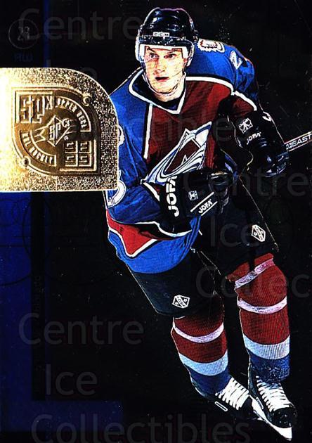 1998-99 SPx Top Prospects #16 Milan Hejduk<br/>2 In Stock - $3.00 each - <a href=https://centericecollectibles.foxycart.com/cart?name=1998-99%20SPx%20Top%20Prospects%20%2316%20Milan%20Hejduk...&quantity_max=2&price=$3.00&code=314975 class=foxycart> Buy it now! </a>