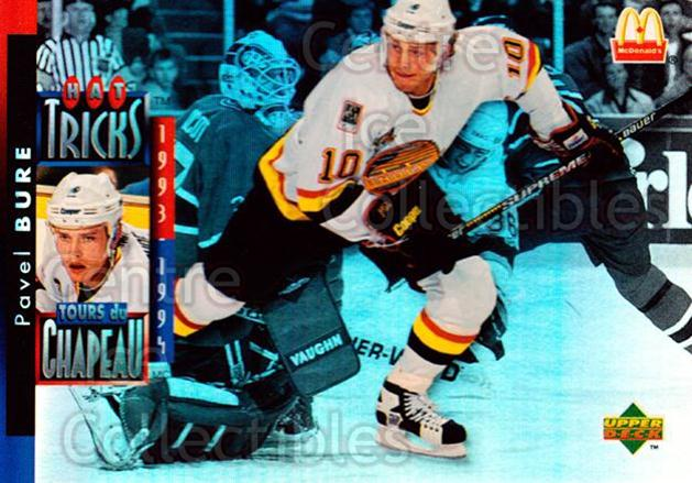 1994-95 McDonalds Upper Deck #23 Pavel Bure<br/>6 In Stock - $1.00 each - <a href=https://centericecollectibles.foxycart.com/cart?name=1994-95%20McDonalds%20Upper%20Deck%20%2323%20Pavel%20Bure...&quantity_max=6&price=$1.00&code=31504 class=foxycart> Buy it now! </a>