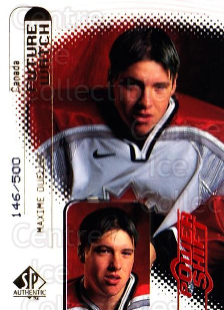 1998-99 SP Authentic Power Shift #115 Maxime Ouellet<br/>1 In Stock - $5.00 each - <a href=https://centericecollectibles.foxycart.com/cart?name=1998-99%20SP%20Authentic%20Power%20Shift%20%23115%20Maxime%20Ouellet...&quantity_max=1&price=$5.00&code=315170 class=foxycart> Buy it now! </a>