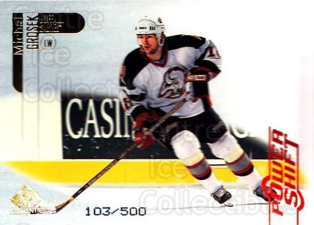1998-99 SP Authentic Power Shift #10 Michal Grosek<br/>1 In Stock - $3.00 each - <a href=https://centericecollectibles.foxycart.com/cart?name=1998-99%20SP%20Authentic%20Power%20Shift%20%2310%20Michal%20Grosek...&quantity_max=1&price=$3.00&code=315182 class=foxycart> Buy it now! </a>