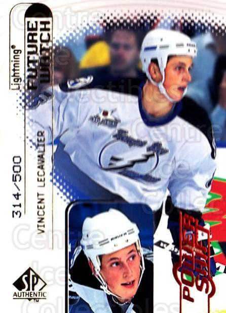 1998-99 SP Authentic Power Shift #109 Vincent Lecavalier<br/>2 In Stock - $5.00 each - <a href=https://centericecollectibles.foxycart.com/cart?name=1998-99%20SP%20Authentic%20Power%20Shift%20%23109%20Vincent%20Lecaval...&quantity_max=2&price=$5.00&code=315191 class=foxycart> Buy it now! </a>