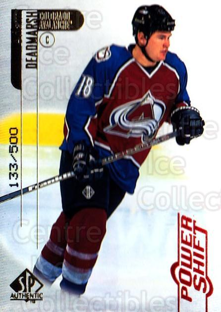 1998-99 SP Authentic Power Shift #23 Adam Deadmarsh<br/>1 In Stock - $3.00 each - <a href=https://centericecollectibles.foxycart.com/cart?name=1998-99%20SP%20Authentic%20Power%20Shift%20%2323%20Adam%20Deadmarsh...&quantity_max=1&price=$3.00&code=315224 class=foxycart> Buy it now! </a>