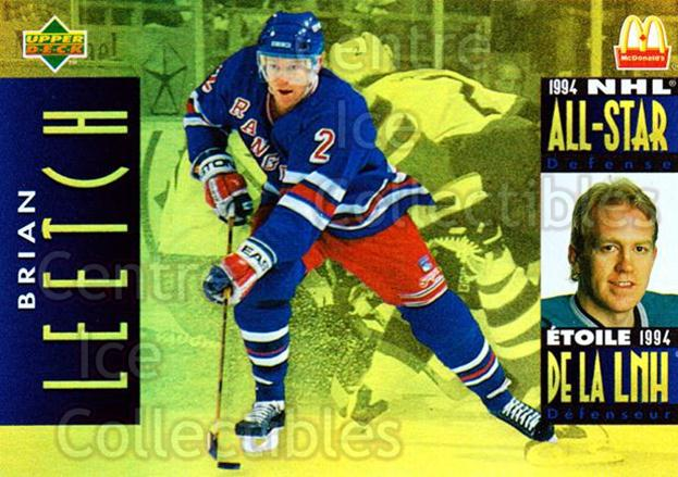 1994-95 McDonalds Upper Deck #6 Brian Leetch<br/>10 In Stock - $1.00 each - <a href=https://centericecollectibles.foxycart.com/cart?name=1994-95%20McDonalds%20Upper%20Deck%20%236%20Brian%20Leetch...&quantity_max=10&price=$1.00&code=31522 class=foxycart> Buy it now! </a>