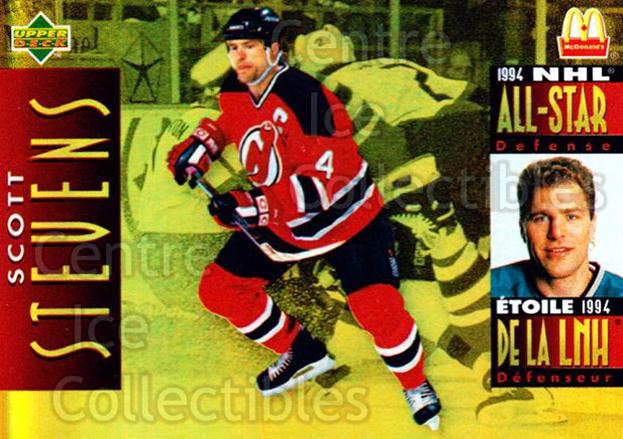 1994-95 McDonalds Upper Deck #7 Scott Stevens<br/>10 In Stock - $1.00 each - <a href=https://centericecollectibles.foxycart.com/cart?name=1994-95%20McDonalds%20Upper%20Deck%20%237%20Scott%20Stevens...&quantity_max=10&price=$1.00&code=31523 class=foxycart> Buy it now! </a>