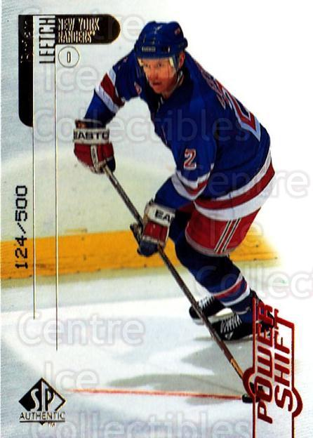 1998-99 SP Authentic Power Shift #57 Brian Leetch<br/>2 In Stock - $3.00 each - <a href=https://centericecollectibles.foxycart.com/cart?name=1998-99%20SP%20Authentic%20Power%20Shift%20%2357%20Brian%20Leetch...&quantity_max=2&price=$3.00&code=315260 class=foxycart> Buy it now! </a>