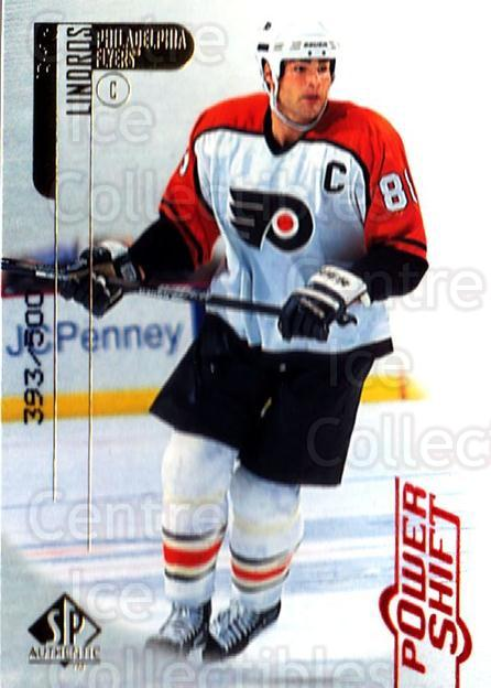 1998-99 SP Authentic Power Shift #61 Eric Lindros<br/>1 In Stock - $5.00 each - <a href=https://centericecollectibles.foxycart.com/cart?name=1998-99%20SP%20Authentic%20Power%20Shift%20%2361%20Eric%20Lindros...&quantity_max=1&price=$5.00&code=315265 class=foxycart> Buy it now! </a>