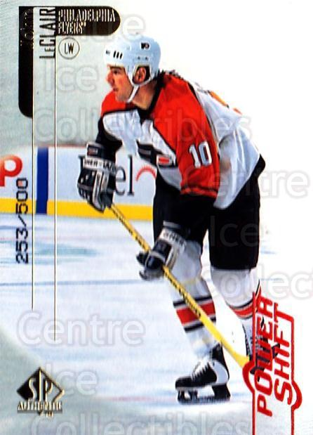 1998-99 SP Authentic Power Shift #63 John LeClair<br/>1 In Stock - $3.00 each - <a href=https://centericecollectibles.foxycart.com/cart?name=1998-99%20SP%20Authentic%20Power%20Shift%20%2363%20John%20LeClair...&quantity_max=1&price=$3.00&code=315267 class=foxycart> Buy it now! </a>