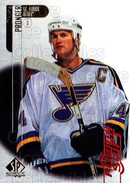 1998-99 SP Authentic Power Shift #71 Chris Pronger<br/>1 In Stock - $3.00 each - <a href=https://centericecollectibles.foxycart.com/cart?name=1998-99%20SP%20Authentic%20Power%20Shift%20%2371%20Chris%20Pronger...&quantity_max=1&price=$3.00&code=315276 class=foxycart> Buy it now! </a>
