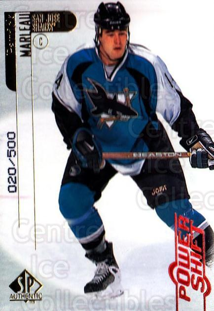 1998-99 SP Authentic Power Shift #75 Patrick Marleau<br/>1 In Stock - $3.00 each - <a href=https://centericecollectibles.foxycart.com/cart?name=1998-99%20SP%20Authentic%20Power%20Shift%20%2375%20Patrick%20Marleau...&quantity_max=1&price=$3.00&code=315280 class=foxycart> Buy it now! </a>