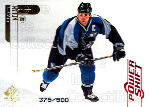 1998-99 SP Authentic Power Shift #77 Owen Nolan<br/>1 In Stock - $3.00 each - <a href=https://centericecollectibles.foxycart.com/cart?name=1998-99%20SP%20Authentic%20Power%20Shift%20%2377%20Owen%20Nolan...&quantity_max=1&price=$3.00&code=315282 class=foxycart> Buy it now! </a>