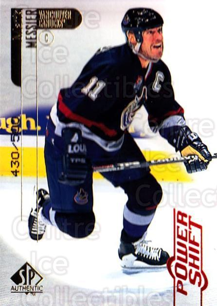 1998-99 SP Authentic Power Shift #85 Mark Messier<br/>1 In Stock - $5.00 each - <a href=https://centericecollectibles.foxycart.com/cart?name=1998-99%20SP%20Authentic%20Power%20Shift%20%2385%20Mark%20Messier...&quantity_max=1&price=$5.00&code=315291 class=foxycart> Buy it now! </a>