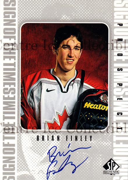 1998-99 Sp Authentic Sign of the Times #BF Brian Finley<br/>1 In Stock - $10.00 each - <a href=https://centericecollectibles.foxycart.com/cart?name=1998-99%20Sp%20Authentic%20Sign%20of%20the%20Times%20%23BF%20Brian%20Finley...&price=$10.00&code=315313 class=foxycart> Buy it now! </a>