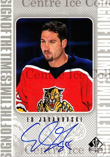 1998-99 Sp Authentic Sign of the Times #EJ Ed Jovanovski<br/>1 In Stock - $10.00 each - <a href=https://centericecollectibles.foxycart.com/cart?name=1998-99%20Sp%20Authentic%20Sign%20of%20the%20Times%20%23EJ%20Ed%20Jovanovski...&price=$10.00&code=315323 class=foxycart> Buy it now! </a>