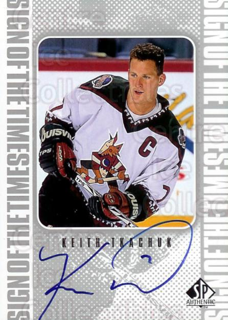 1998-99 Sp Authentic Sign of the Times #KT Keith Tkachuk<br/>3 In Stock - $10.00 each - <a href=https://centericecollectibles.foxycart.com/cart?name=1998-99%20Sp%20Authentic%20Sign%20of%20the%20Times%20%23KT%20Keith%20Tkachuk...&price=$10.00&code=315331 class=foxycart> Buy it now! </a>