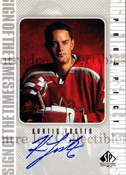 1998-99 Sp Authentic Sign of the Times #KF Kurtis Foster<br/>2 In Stock - $10.00 each - <a href=https://centericecollectibles.foxycart.com/cart?name=1998-99%20Sp%20Authentic%20Sign%20of%20the%20Times%20%23KF%20Kurtis%20Foster...&price=$10.00&code=315334 class=foxycart> Buy it now! </a>