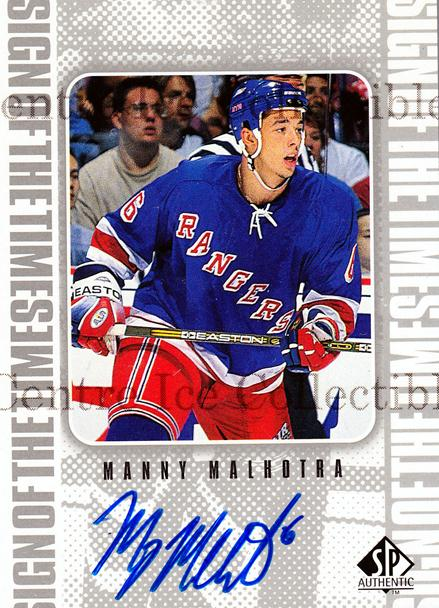 1998-99 Sp Authentic Sign of the Times #MM Manny Malhotra<br/>1 In Stock - $10.00 each - <a href=https://centericecollectibles.foxycart.com/cart?name=1998-99%20Sp%20Authentic%20Sign%20of%20the%20Times%20%23MM%20Manny%20Malhotra...&price=$10.00&code=315336 class=foxycart> Buy it now! </a>