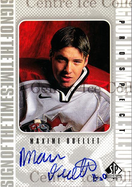 1998-99 Sp Authentic Sign of the Times #MAO Maxime Ouellet<br/>1 In Stock - $10.00 each - <a href=https://centericecollectibles.foxycart.com/cart?name=1998-99%20Sp%20Authentic%20Sign%20of%20the%20Times%20%23MAO%20Maxime%20Ouellet...&price=$10.00&code=315342 class=foxycart> Buy it now! </a>