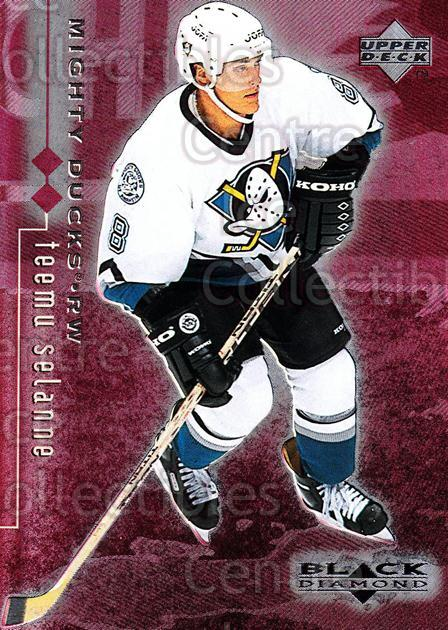 1998-99 Black Diamond Double Diamond #2 Teemu Selanne<br/>2 In Stock - $5.00 each - <a href=https://centericecollectibles.foxycart.com/cart?name=1998-99%20Black%20Diamond%20Double%20Diamond%20%232%20Teemu%20Selanne...&quantity_max=2&price=$5.00&code=315594 class=foxycart> Buy it now! </a>