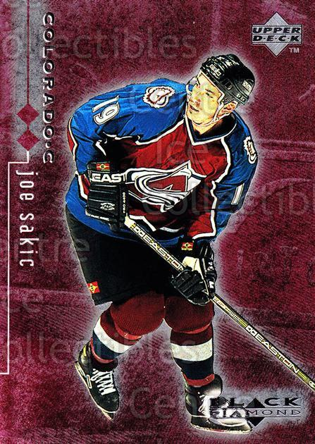 1998-99 Black Diamond Double Diamond #23 Joe Sakic<br/>1 In Stock - $5.00 each - <a href=https://centericecollectibles.foxycart.com/cart?name=1998-99%20Black%20Diamond%20Double%20Diamond%20%2323%20Joe%20Sakic...&quantity_max=1&price=$5.00&code=315598 class=foxycart> Buy it now! </a>