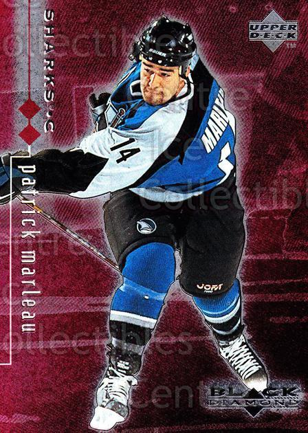 1998-99 Black Diamond Double Diamond #72 Patrick Marleau<br/>5 In Stock - $2.00 each - <a href=https://centericecollectibles.foxycart.com/cart?name=1998-99%20Black%20Diamond%20Double%20Diamond%20%2372%20Patrick%20Marleau...&quantity_max=5&price=$2.00&code=315652 class=foxycart> Buy it now! </a>