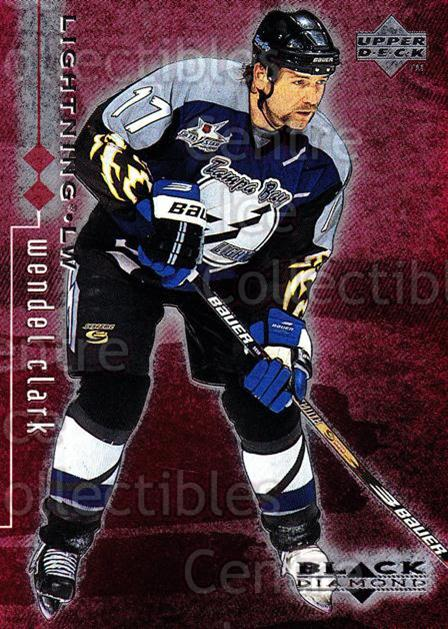 1998-99 Black Diamond Double Diamond #79 Wendel Clark<br/>3 In Stock - $3.00 each - <a href=https://centericecollectibles.foxycart.com/cart?name=1998-99%20Black%20Diamond%20Double%20Diamond%20%2379%20Wendel%20Clark...&quantity_max=3&price=$3.00&code=315659 class=foxycart> Buy it now! </a>