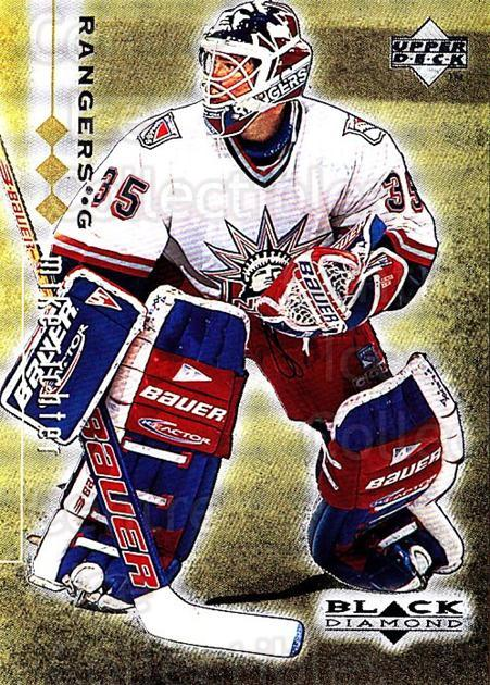 1998-99 Black Diamond Triple Diamond #58 Mike Richter<br/>1 In Stock - $3.00 each - <a href=https://centericecollectibles.foxycart.com/cart?name=1998-99%20Black%20Diamond%20Triple%20Diamond%20%2358%20Mike%20Richter...&quantity_max=1&price=$3.00&code=315737 class=foxycart> Buy it now! </a>