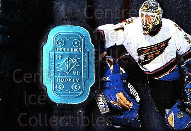 1998-99 SPx Finite #88 Olaf Kolzig<br/>1 In Stock - $1.00 each - <a href=https://centericecollectibles.foxycart.com/cart?name=1998-99%20SPx%20Finite%20%2388%20Olaf%20Kolzig...&quantity_max=1&price=$1.00&code=315932 class=foxycart> Buy it now! </a>