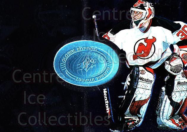 1998-99 SPx Finite #105 Martin Brodeur<br/>2 In Stock - $5.00 each - <a href=https://centericecollectibles.foxycart.com/cart?name=1998-99%20SPx%20Finite%20%23105%20Martin%20Brodeur...&price=$5.00&code=315941 class=foxycart> Buy it now! </a>