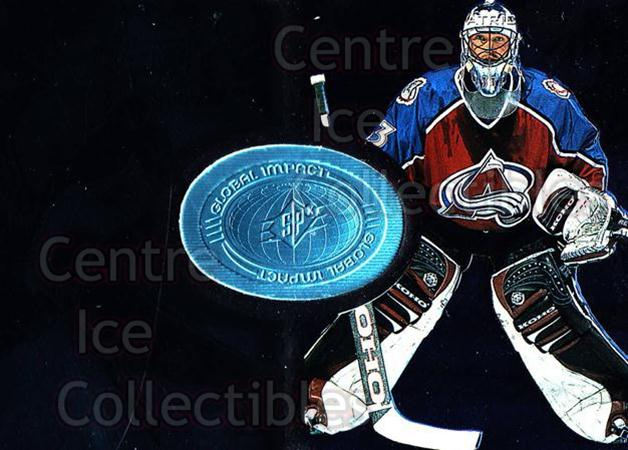 1998-99 SPx Finite #119 Patrick Roy<br/>1 In Stock - $5.00 each - <a href=https://centericecollectibles.foxycart.com/cart?name=1998-99%20SPx%20Finite%20%23119%20Patrick%20Roy...&quantity_max=1&price=$5.00&code=315945 class=foxycart> Buy it now! </a>