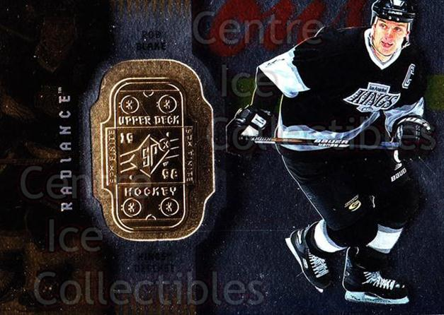 1998-99 SPx Finite Radiance #42 Rob Blake<br/>5 In Stock - $2.00 each - <a href=https://centericecollectibles.foxycart.com/cart?name=1998-99%20SPx%20Finite%20Radiance%20%2342%20Rob%20Blake...&quantity_max=5&price=$2.00&code=316050 class=foxycart> Buy it now! </a>