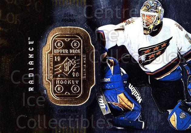 1998-99 SPx Finite Radiance #88 Olaf Kolzig<br/>3 In Stock - $2.00 each - <a href=https://centericecollectibles.foxycart.com/cart?name=1998-99%20SPx%20Finite%20Radiance%20%2388%20Olaf%20Kolzig...&quantity_max=3&price=$2.00&code=316112 class=foxycart> Buy it now! </a>