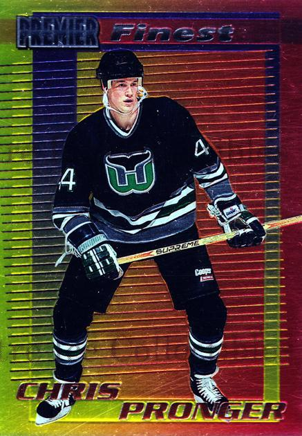 1994-95 OPC Premier Finest Inserts #11 Chris Pronger<br/>3 In Stock - $3.00 each - <a href=https://centericecollectibles.foxycart.com/cart?name=1994-95%20OPC%20Premier%20Finest%20Inserts%20%2311%20Chris%20Pronger...&quantity_max=3&price=$3.00&code=31618 class=foxycart> Buy it now! </a>