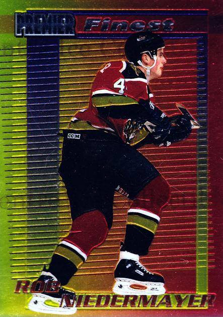 1994-95 OPC Premier Finest Inserts #9 Rob Niedermayer<br/>11 In Stock - $3.00 each - <a href=https://centericecollectibles.foxycart.com/cart?name=1994-95%20OPC%20Premier%20Finest%20Inserts%20%239%20Rob%20Niedermayer...&quantity_max=11&price=$3.00&code=31626 class=foxycart> Buy it now! </a>