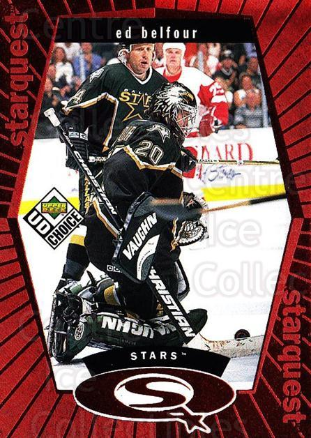 1998-99 UD Choice StarQuest Red #17 Ed Belfour<br/>1 In Stock - $3.00 each - <a href=https://centericecollectibles.foxycart.com/cart?name=1998-99%20UD%20Choice%20StarQuest%20Red%20%2317%20Ed%20Belfour...&price=$3.00&code=316347 class=foxycart> Buy it now! </a>