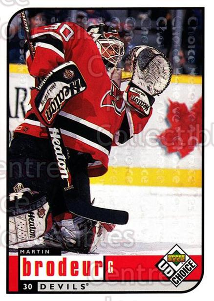 1998-99 UD Choice Reserve #116 Martin Brodeur<br/>1 In Stock - $5.00 each - <a href=https://centericecollectibles.foxycart.com/cart?name=1998-99%20UD%20Choice%20Reserve%20%23116%20Martin%20Brodeur...&quantity_max=1&price=$5.00&code=316408 class=foxycart> Buy it now! </a>