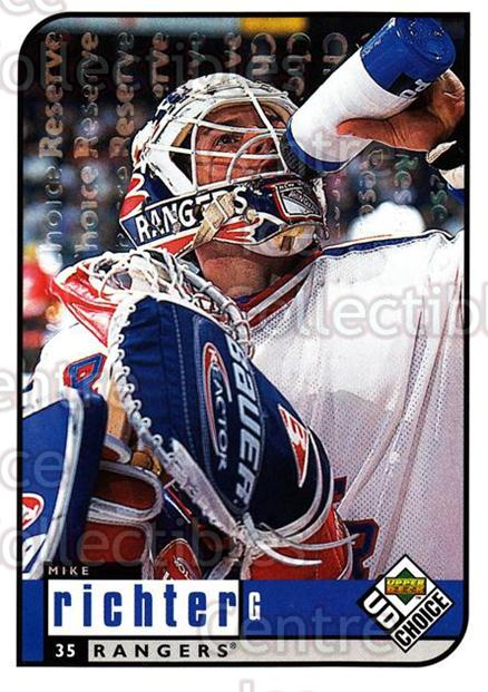 1998-99 UD Choice Reserve #135 Mike Richter<br/>1 In Stock - $2.00 each - <a href=https://centericecollectibles.foxycart.com/cart?name=1998-99%20UD%20Choice%20Reserve%20%23135%20Mike%20Richter...&quantity_max=1&price=$2.00&code=316458 class=foxycart> Buy it now! </a>