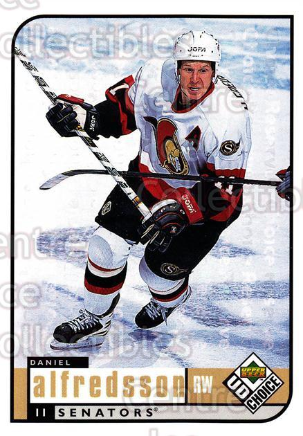1998-99 UD Choice Reserve #144 Daniel Alfredsson<br/>1 In Stock - $2.00 each - <a href=https://centericecollectibles.foxycart.com/cart?name=1998-99%20UD%20Choice%20Reserve%20%23144%20Daniel%20Alfredss...&quantity_max=1&price=$2.00&code=316468 class=foxycart> Buy it now! </a>