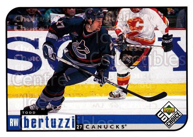 1998-99 UD Choice Reserve #212 Todd Bertuzzi<br/>4 In Stock - $2.00 each - <a href=https://centericecollectibles.foxycart.com/cart?name=1998-99%20UD%20Choice%20Reserve%20%23212%20Todd%20Bertuzzi...&quantity_max=4&price=$2.00&code=316541 class=foxycart> Buy it now! </a>