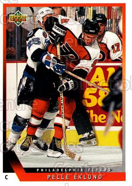 1993-94 Upper Deck #120 Pelle Eklund<br/>12 In Stock - $1.00 each - <a href=https://centericecollectibles.foxycart.com/cart?name=1993-94%20Upper%20Deck%20%23120%20Pelle%20Eklund...&quantity_max=12&price=$1.00&code=3172 class=foxycart> Buy it now! </a>