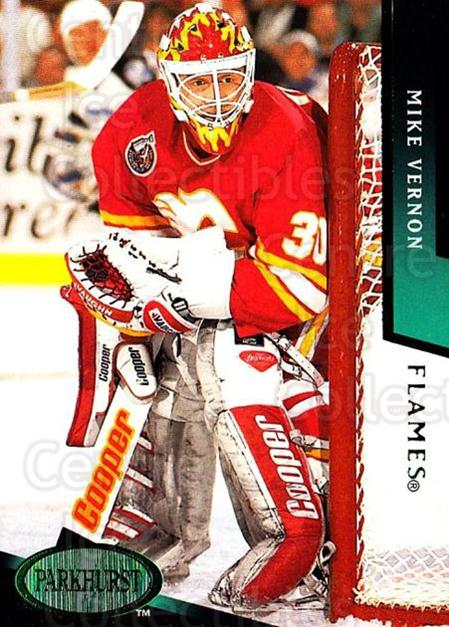 1993-94 Parkhurst Emerald #301 Mike Vernon<br/>2 In Stock - $2.00 each - <a href=https://centericecollectibles.foxycart.com/cart?name=1993-94%20Parkhurst%20Emerald%20%23301%20Mike%20Vernon...&quantity_max=2&price=$2.00&code=318049 class=foxycart> Buy it now! </a>