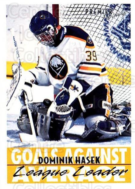 1994-95 OPC Premier #156 Dominik Hasek<br/>1 In Stock - $2.00 each - <a href=https://centericecollectibles.foxycart.com/cart?name=1994-95%20OPC%20Premier%20%23156%20Dominik%20Hasek...&quantity_max=1&price=$2.00&code=31838 class=foxycart> Buy it now! </a>